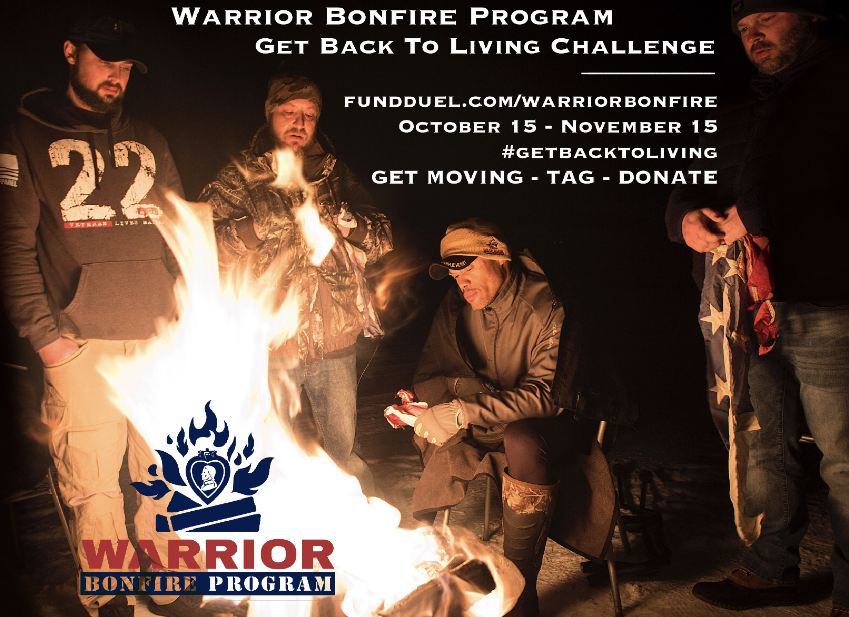 Join Warrior Bonfire Program in fundraising challenge for Diamonds and Dogtags